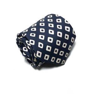 Brooks Brothers Accessories - Brooks Brothers Makers All Silk Geometric Navy Tie